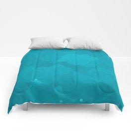 Peacock Blue Bubble Dot Color Accent Comforters