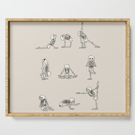 Skeleton Yoga Serving Tray