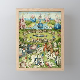 The Garden of Earthly Delights by Hieronymus Bosch Framed Mini Art Print