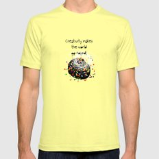Creativity makes the world go round! Mens Fitted Tee Lemon SMALL