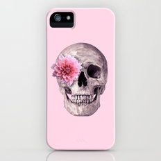 FLOWER SKULL iPhone SE Slim Case