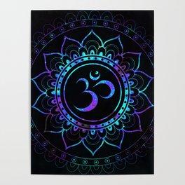 Om Mandala: Colorful Galaxy Poster