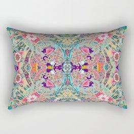 Mandala - Turquoise Boho Rectangular Pillow