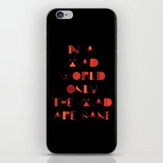 In a Mad World iPhone & iPod Skin