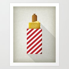 French Hotdog Art Print