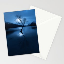 lonely tree snowdonia Stationery Cards