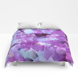 Lilacs And Blue Skies Cubed Comforters