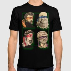 Renaissance Mutant Ninja Artists Black Mens Fitted Tee LARGE