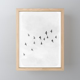 Flock of Birds Framed Mini Art Print