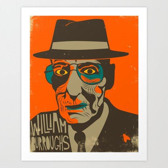 WILLIAM BURROUGHS Art Print