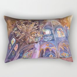 Notre Dame interior Rectangular Pillow