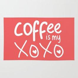 Coffee Is My XOXO (Coral) Rug