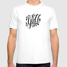 Y'ALL White Mens Fitted Tee MEDIUM