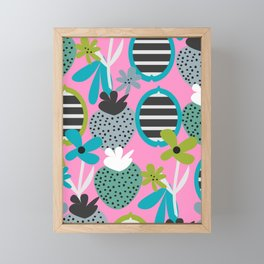 Summer mix in pink and blue Framed Mini Art Print