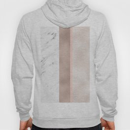 Cloudy marble on golden rose Hoody