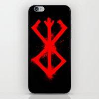 berserk iPhone & iPod Skins featuring Cursed Mark by CaptainSunshine