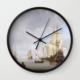 Vintage Ship Oil Painting Wall Clock