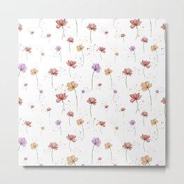 Fresh Floral Pattern Metal Print