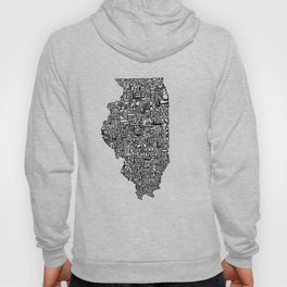 Typographic Illinois Hoody