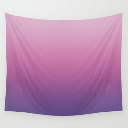Pink Ultra Violet Ombre Gradient Pattern Wall Tapestry