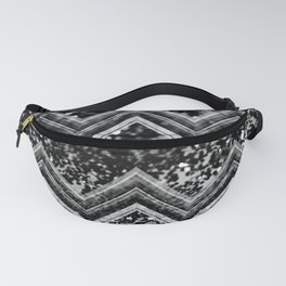Black Night Glitter Chevron #1 #shiny #decor #art #society6 Fanny Pack