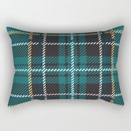 Irish green teal plaid tartan Rectangular Pillow