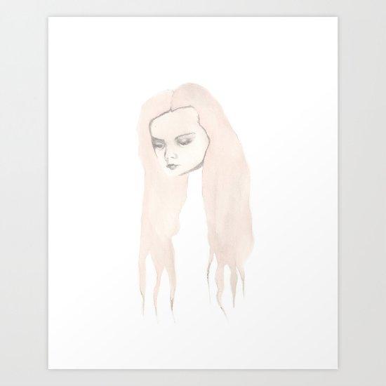 Waterfall Girl Art Print