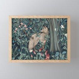 William Morris Forest Fox Tapestry Framed Mini Art Print