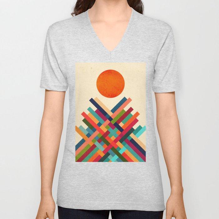 Sun Shrine Unisex V-Neck