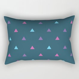 Geometric Triangle Pattern - Dark Blue Rectangular Pillow