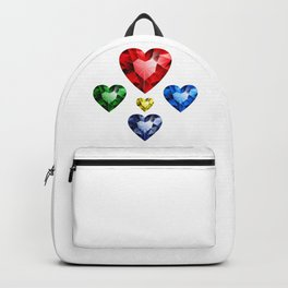 Multi-colored hearts Backpack