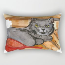 Cat in the Sauna Rectangular Pillow