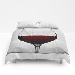 Red wine and naked woman Comforters