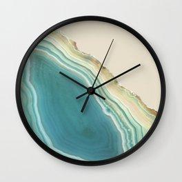 Geode Turquoise + Cream Wall Clock