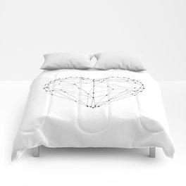 Love Heart Geometric Polygon Drawing Vector Illustration Valentines Day Gift for Girlfriend Comforters