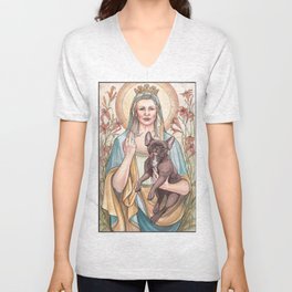 Our Blessed Rebel Queen Unisex V-Neck