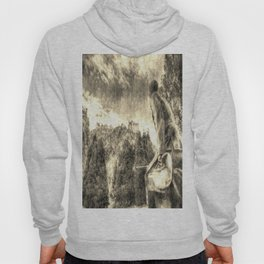 Scots American Memorial And Edinburgh Castle Vintage Hoody