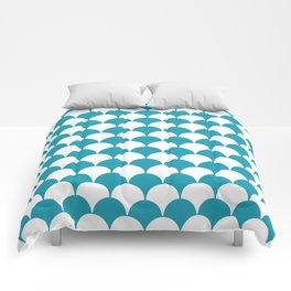 Fan Pattern 321 Turquoise Comforters