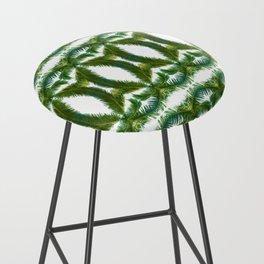 Palm Leaf Kaleidoscope (on white) #2 Bar Stool