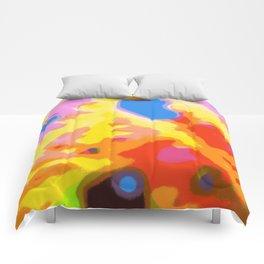 macro day-glo Comforters