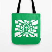 christian Tote Bags featuring Christian Cross by politics