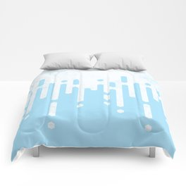 Marble and Geometric Diamond Drips, in Blue Comforters