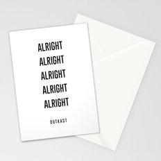alright alright alright Stationery Cards