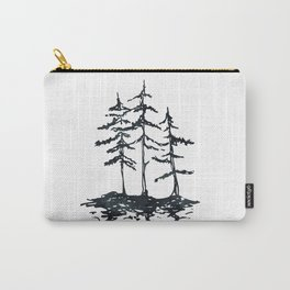 THE THREE SISTERS Black and White Carry-All Pouch
