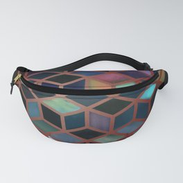 Pastel Boxes Rose Gold Fanny Pack