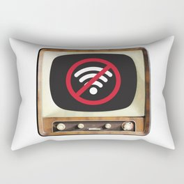 Vintage TV No Signal Rectangular Pillow
