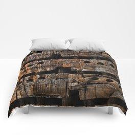 Charred Wood Boxes Comforters