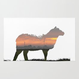 sunrise sheep Rug
