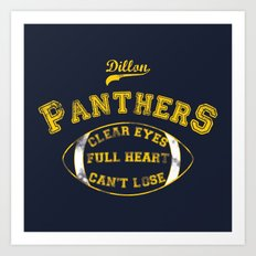 Dillon Panthers Art Print