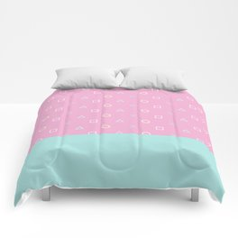 Gamer Girl - Pastel Playstation Controller Buttons Comforters